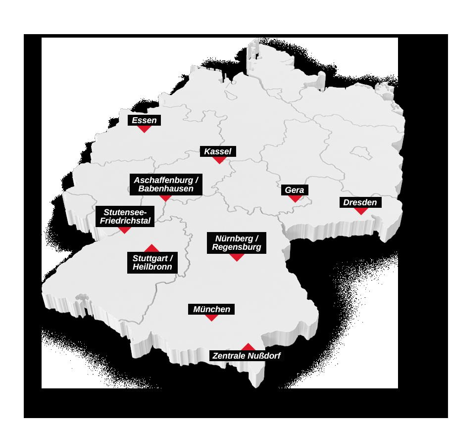 KLVrent Nutzfahrzeugvermietung Standorte Deutschland - April 2021
