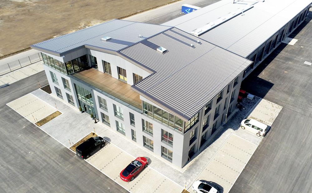 KLVrent Nutzfahrzeugvermietung - Neubau am Standort Nußdorf von oben